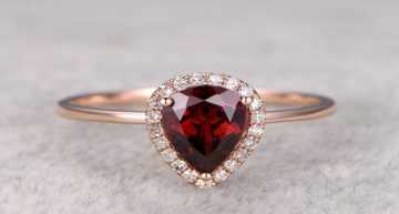 Garnets for an Colored Engagement Ring