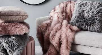 Add warmth to your home with nice fur blankets & cushions!